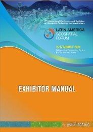 Exhibitor Manual - Latin America Geospatial Forum