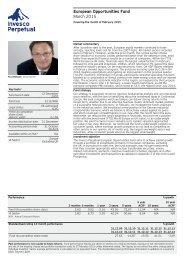 Invesco Perpetual European Opportunities Fund Factsheet