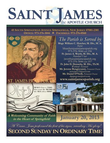 Bulletin 638 Saint James The Apostle Church Springfield NJ ...