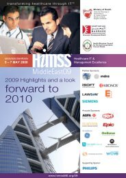 HIMSS ME09 Post - HIMSS Middle East