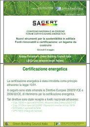 LEED: una versione anche italiana - Sacert