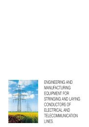 engineering and manufacturing equipment for stringing and laying ...