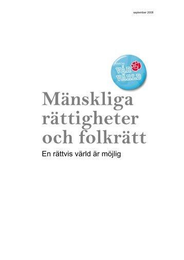 Mänskliga rättigheter och folkrätt - Socialdemokraterna