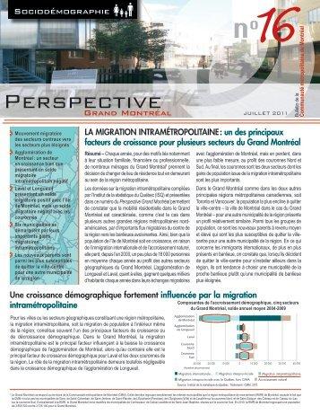 Perspective Grand Montréal no 16 - Communauté métropolitaine de ...