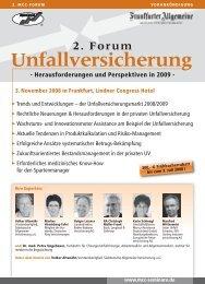 2. Forum Unfallversicherung - Versicherungsmagazin