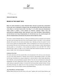 Press Release Music in the Giant 2012 - Swarovski Kristallwelten