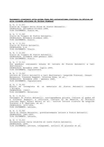 Colonialismo italiano in Africa e vicende africane di Arthur Rimbaud