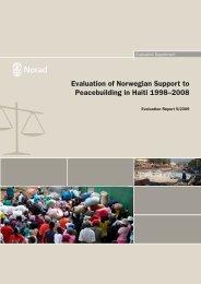 Evaluation of Norwegian Support to Peacebuilding in Haiti ... - OECD