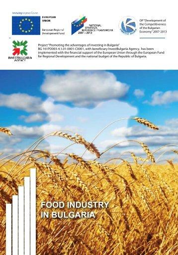 Food industry in Bulgaria - Invest Bulgaria Agency