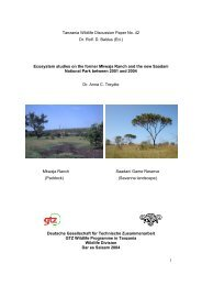 Ecosystem studies on the former Mkwaja Ranch and the new S