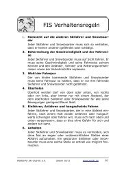 FIS Verhaltensregeln - Walldorfer Ski-Club 81 eV