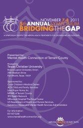 2011 Bridging the Gap Brochure - Mental Health Connection
