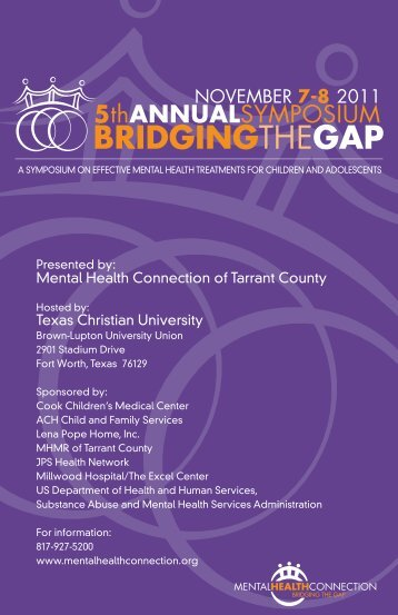 2011 Bridging the Gap Brochure - Mental Health Connection