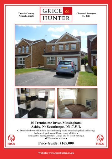 Price Guide: £165000 25 Trentholme Drive ... - Grice & Hunter