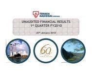 1q results - Tenaga Nasional Berhad