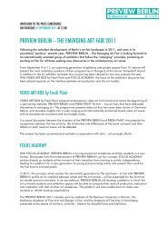 Preview Berlin 2011_PRESS_RELEASE - 1F Mediaproject