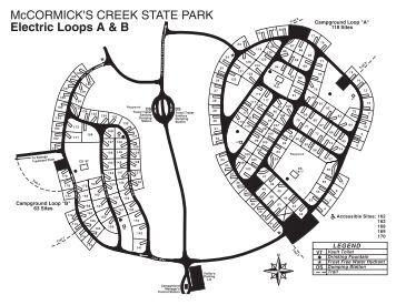 Image Result For Potato Creek State Park Campground Map