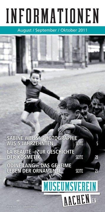 sabIne weIss - Museumsverein Aachen