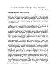 OPCIONES DE POLÍTICAS CULTURALES EN EL MARCO DE LA ...