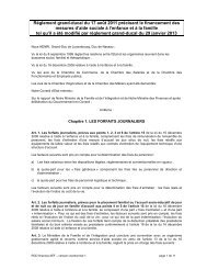 RGD Finances - Ministère de la Famille et de l'Intégration