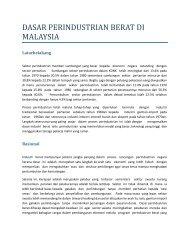 DASAR PERINDUSTRIAN BERAT DI MALAYSIA