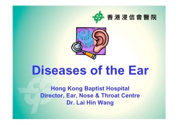 2010年8月22日(Common Diseases of the ear)