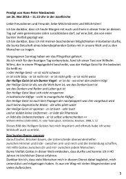 Predigt von Hans-Peter Niedzwiedz am 26. Mai 2013 – 11.15 Uhr in ...