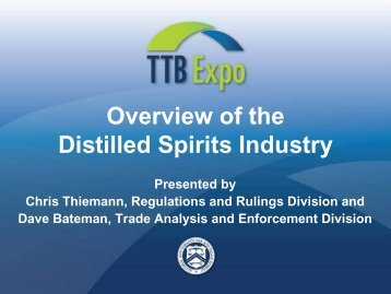 The Distilled Spirits Industry - TTB