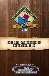 RSSI 2011 C&S ExhIbItIon SEptEmbER 18-20 - Railway Systems ...