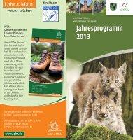 Jahresprogramm 2013 - Naturpark Spessart