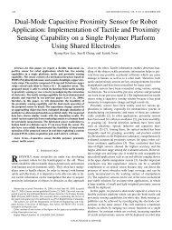Dual-Mode Capacitive Proximity Sensor for Robot Application ...