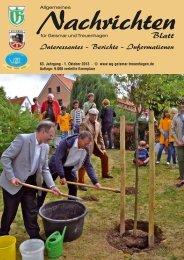Nachrichtenblatt Oktober 2013 - Werbegemeinschaft Geismar ...
