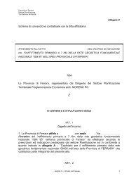 Schema di convenzione contrattuale con la ditta affidataria TRA La ...