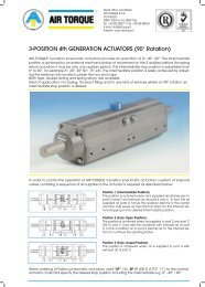3-Position Actuators (90 DEGREE) Pneumatic - Global Supply Line