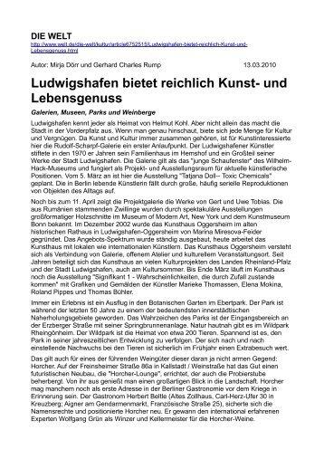 Ludwigshafen bietet reichlich Kunst- und Lebensgenuss