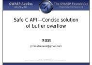Safe C API—Concise solution a o o u o of buffer overflow