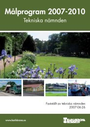 Tekniska nämndens målprogram 2007-2010 - Karlskrona kommun