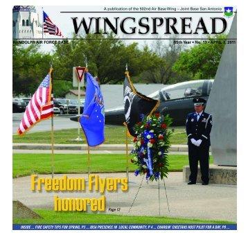 RANDOLPH AIR FORCE BASE 65th Year • No. 13 • APRIL 1, 2011 ...