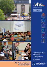 Semester I/2014 - Volkshochschule