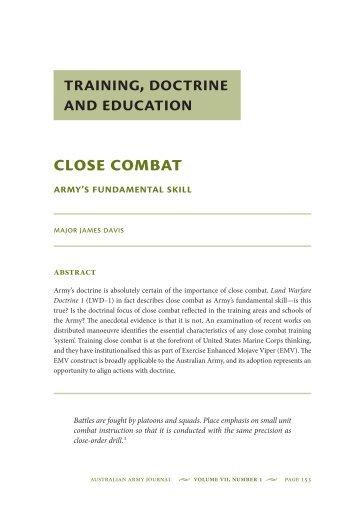 Close Combat: Armys Fundamental Skill - Australian Army