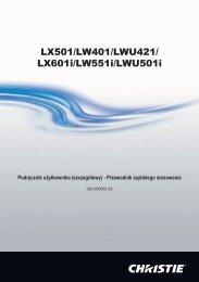 LX601i/LW551i/LWU501i - Christie Digital Systems