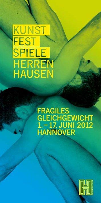 fragiles gleichgewicht 1. – 17. JUNi 2012 haNNOVer