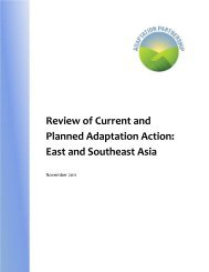 East and Southeast Asia Regional Overview - Adaptation Partnership