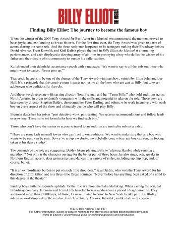 Finding Billy Elliot - Hennepin Theatre Trust