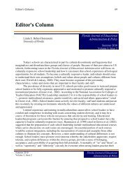 Editor's Column - College of Education - University of Florida