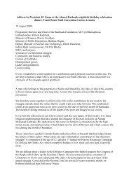 Address by President JG Zuma at the Ahmed Kathrada eightieth ...