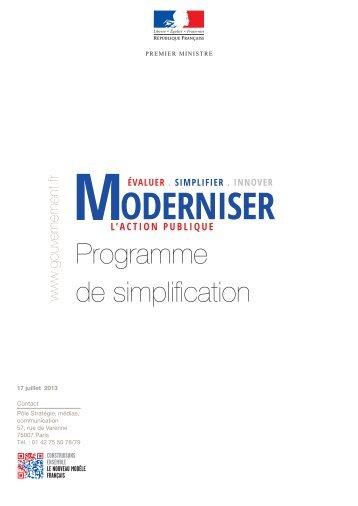 Le programme de simplification - Portail du Gouvernement