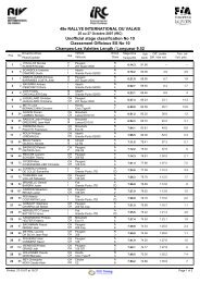 Unofficial stage classification No 10 48e RALLYE INTERNATIONAL ...