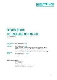 PREVIEW BERLIN THE EMERGING ART FAIR 2011