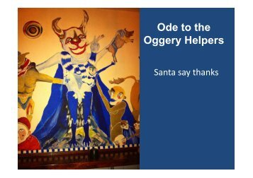 Ode to the Oggery Helpers